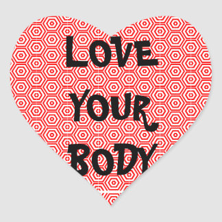 Love Your Body Heart Sticker