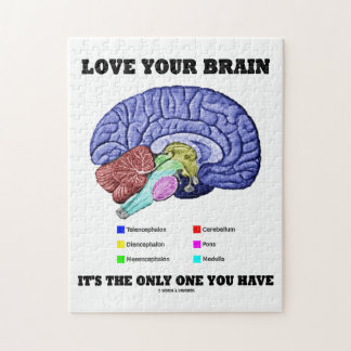 Love Your Brain It's The Only One You Have (Brain) Jigsaw Puzzle