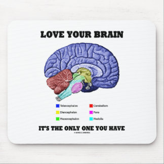 Love Your Brain It's The Only One You Have (Brain) Mouse Pad