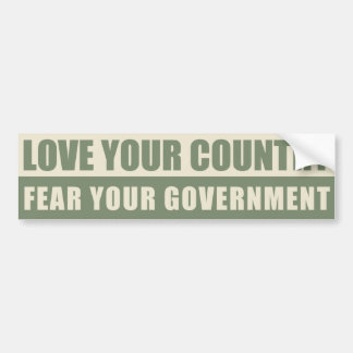 Love Your Country Bumper Stickers