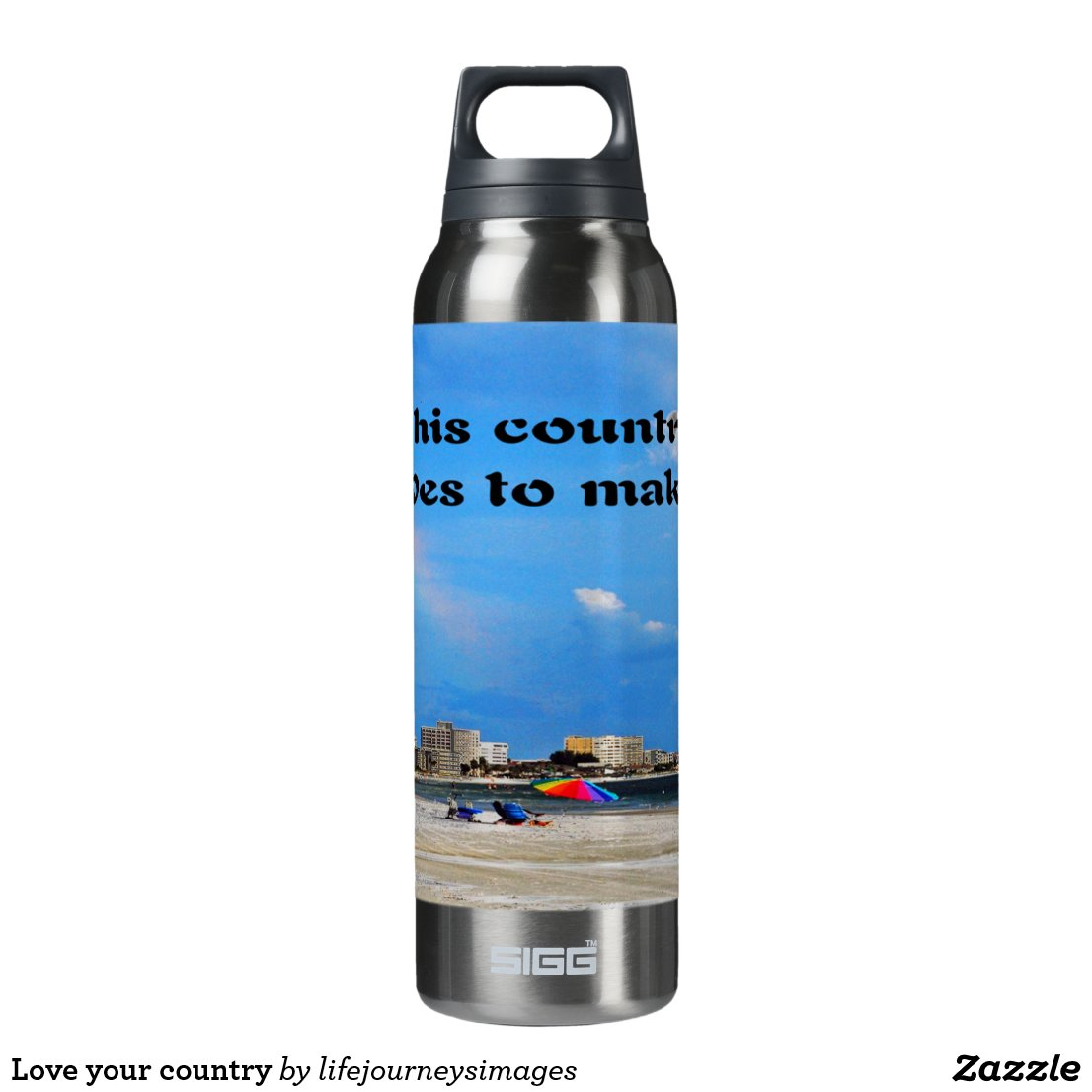 Love your country insulated water bottle