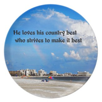 Love your country melamine plate