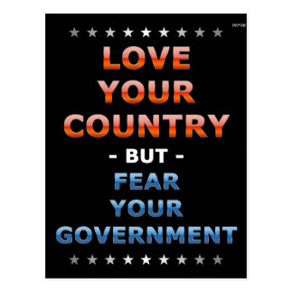 Love Your Country Postcard