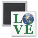 Love Your Earth 2 Inch Square Magnet