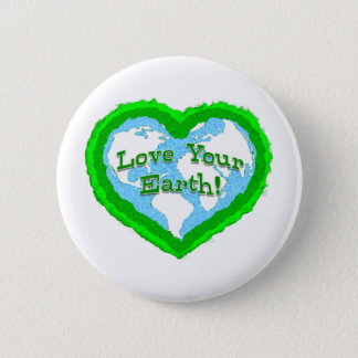 Love Your Earth Badge Button