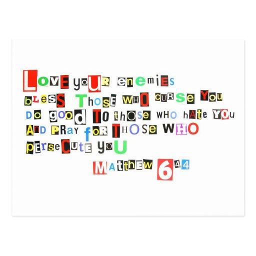 Love your enemies - Matthew 6:44 Postcards