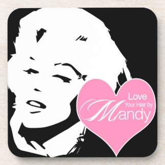 Love Your Hair by Mandy | Hair Salon Beverage Coaster