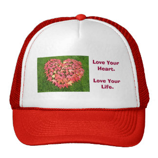 Love Your Heart Trucker's hats Autumn Leaves