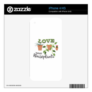 Love Your Houseplants Skin For iPhone 4S