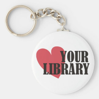 Love Your Library Basic Round Button Keychain