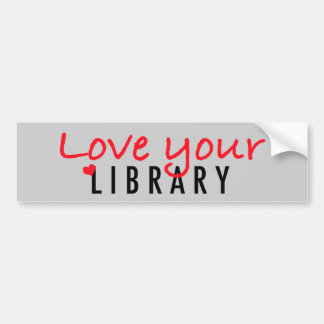 Love your Library Bumper Stickers