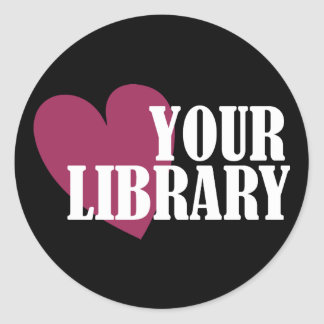 Love Your Library Classic Round Sticker