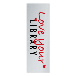 Love your Library Mini Bookmarks (pack of 20) Double-Sided Mini Business Cards (Pack Of 20)