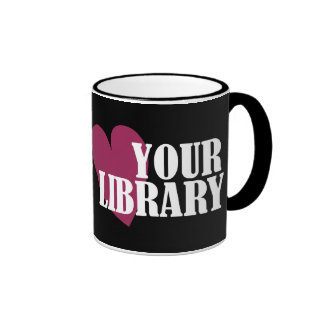 Love Your Library Ringer Coffee Mug