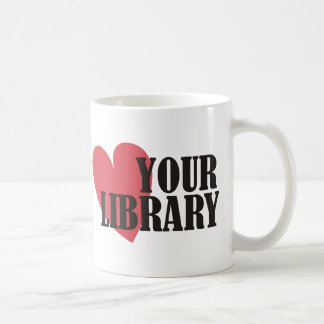 Love Your Library Classic White Coffee Mug