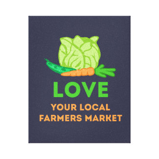 Love Your Local Farmers Market Canvas Print