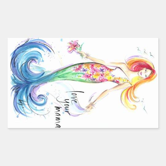 Love Your Mama! Rectangular Sticker