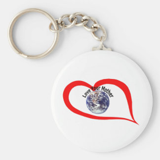 Love your mother  (3) basic round button keychain