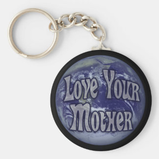Love Your Mother Basic Round Button Keychain