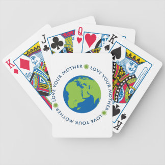 Love Your Mother (Earth) Bicycle Playing Cards