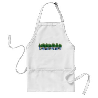 Love Your Mother Earth: Green Leaves & Water Adult Apron