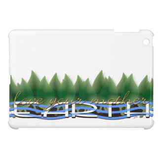Love Your Mother Earth: Green Leaves & Water Cover For The iPad Mini