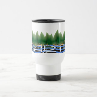 Love Your Mother Earth: Green Leaves & Water Travel Mug