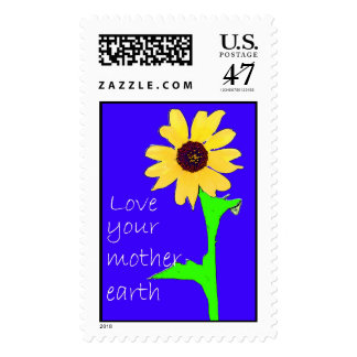 love your mother earth postage stamp