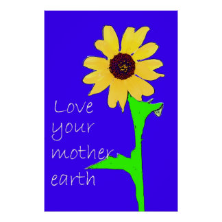 love your mother earth poster