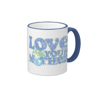Love Your Mother Earth Ringer Mug