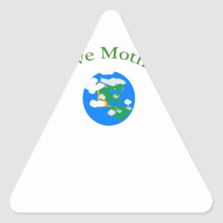 Love your Mother Earth Triangle Sticker