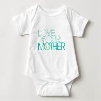 """""""Love Your Mother"""" Earth Vintage Baby Bodysuit"""