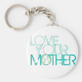 """""""Love Your Mother"""" Earth Vintage Basic Round Button Keychain"""