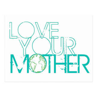 """""""Love Your Mother"""" Earth Vintage Postcard"""