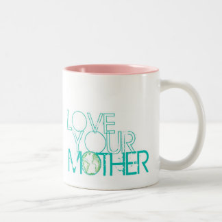 """""""Love Your Mother"""" Earth Vintage Two-Tone Coffee Mug"""