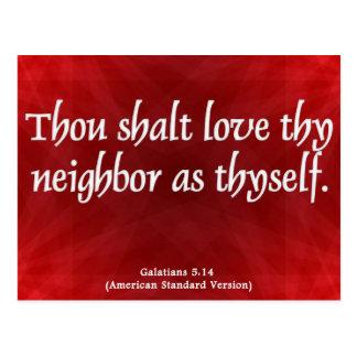 Love Your Neighbor Galatians 5:14 Postcards
