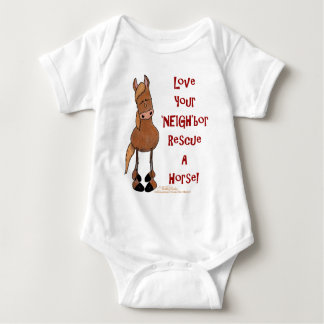 Love Your NEIGHbor Horse Rescue Baby Bodysuit