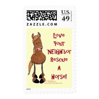 Love Your NEIGHbor Horse Rescue Postage