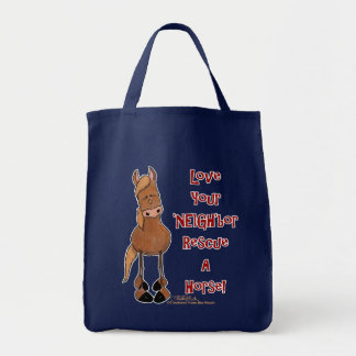 Love Your NEIGHbor Horse Rescue Tote Bag