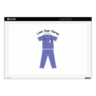 "Love Your Nurse 17"" Laptop Decals"