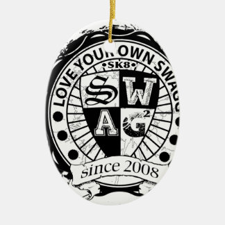 Love Your Own Swagg Product line Ceramic Ornament