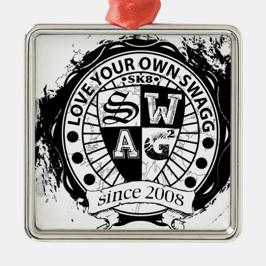 Love Your Own Swagg Product line Metal Ornament