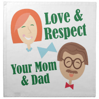Love Your Parents Cloth Napkin