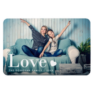 Love | Your Personal Photo and a Heart Magnet