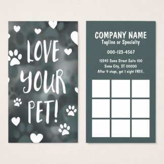 love your pet coupon card bokeh