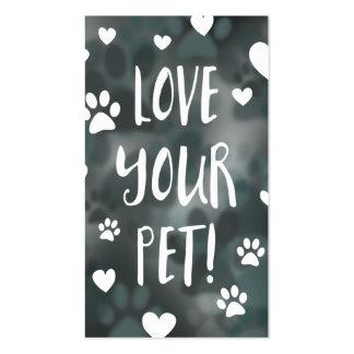 love your pet coupon card bokeh business card