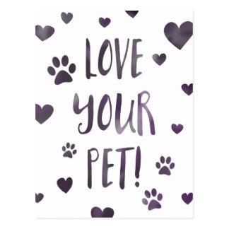 love your pet postcard