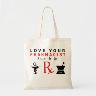 love your pharmacist tote bags