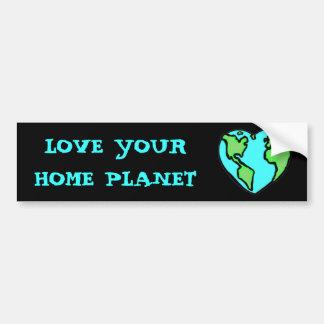 LOVE YOUR PLANET bumper sticker