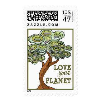 Love your Planet Eco Tree Poster Postage